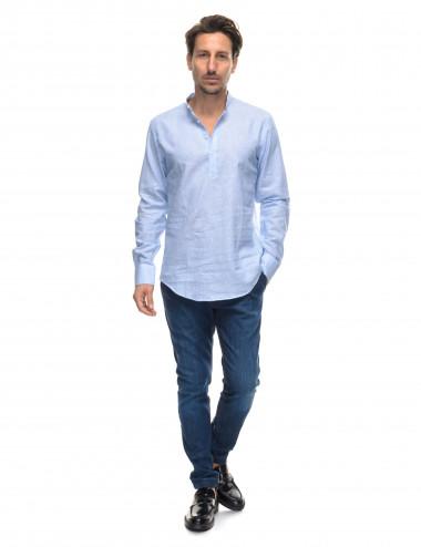 Camicia di lino collo coreano